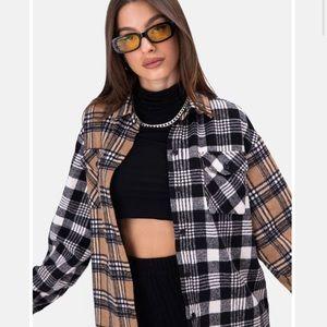 NWT- Belmont's Color-Block Plaid Jacket